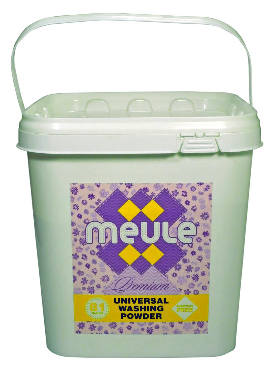 Порошок стиральный Meule, концентрат, 3 кг7290104930041MEULE Premium Universal Washing Powder 3 кг в пластиковом ведре(81 стирка). - Универсальный бесфосфатный концентрированный стиральный порошок, высокого качества. Подходит для всех типов стиральных машин.Для белых и цветных тканей, изделий из хлопка, льна и синтетики.Отстирывает пятна и загрязнения различного происхождения, сохраняя структуру ткани. Препятствует образованию ворсистости (катышков) на одежде. Работает в широком диапазоне температур (от 30 до 90С). Предотвращает образование накипи. Полностью выполаскивается.