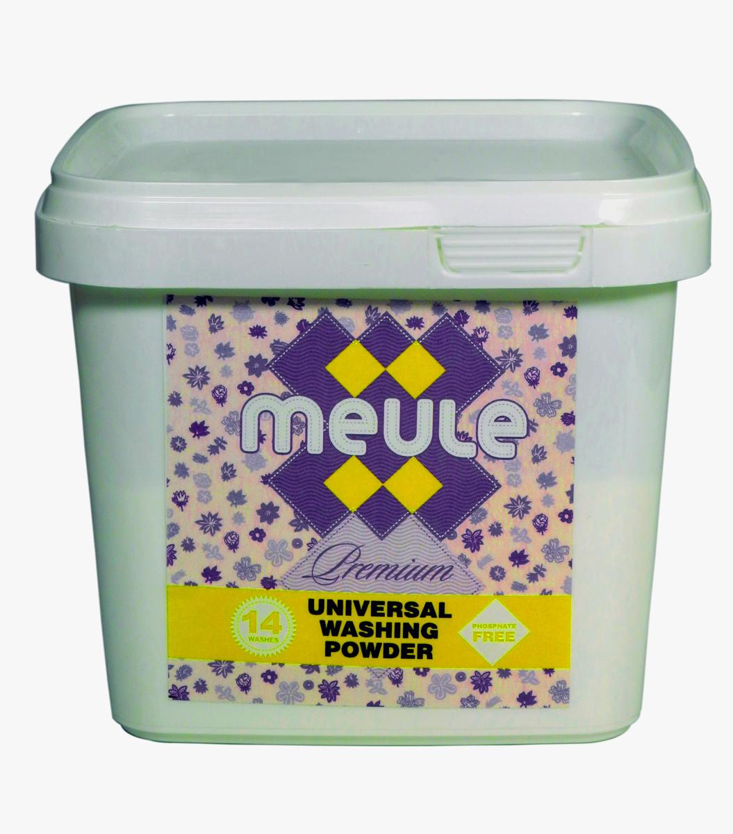 Порошок стиральный Meule, концентрат, 0,5 кг7290104930584MEULE Premium Universal Washing Powder 0,5 кг в пластиковом ведре(14 стирок). - Универсальный бесфосфатный концентрированный стиральный порошок, высокого качества. Подходит для всех типов стиральных машин.Для белых и цветных тканей, изделий из хлопка, льна и синтетики.Отстирывает пятна и загрязнения различного происхождения, сохраняя структуру ткани. Препятствует образованию ворсистости (катышков) на одежде. Работает в широком диапазоне температур (от 30 до 90С). Предотвращает образование накипи. Полностью выполаскивается.