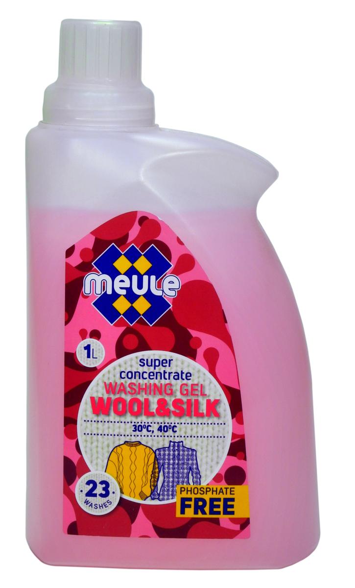 Гель для стирки Meule, концентрат, для шерсти, шелка и деликатных тканей, 1 л7290701372602Meule Gel Wool & Silk 1 л(23 стирки) - Концентрированный гель для стирки шерсти, шелка и деликатных тканей. Препятствует деформации и усадке изделий, сохраняя их первоначальную форму.Мягко отстирывает, сохраняя нежную структуру чувствительных волокон. Отлично воздействует на загрязнения и пятна, не вызывает аллергических реакций. Препятствует образованию ворсистости (катышков) на одежде. Предотвращает образование накипи. Не повреждает волокна ткани при многократной стирке. Полностью выполаскивается. Рекомендуется использовать при температуре 30С-40С.