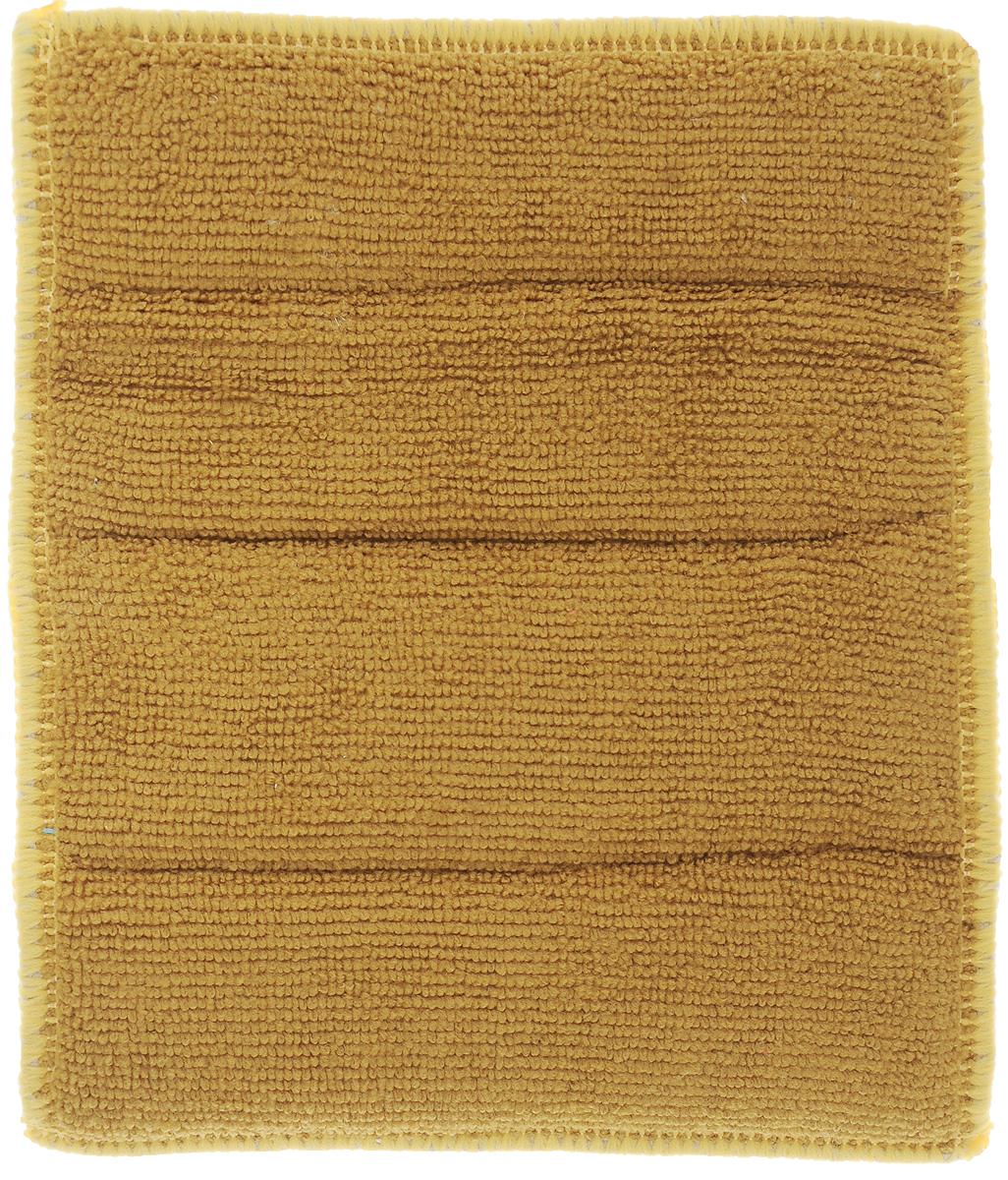 Салфетка для стеклокерамики Хозяюшка Мила, цвет: серебристый, желтый, горчичный, 21 х 17 см4024_серебристый, желтый, горчичныйСалфетка Хозяюшка Мила предназначена для очистки стеклокерамики от пыли, пятен, жира, копоти, а также для полировки и придания блеска без царапин. Для бережного ухода и качественной очистки салфетка оснащена двусторонней поверхностью. Шероховатая сторона салфетки разработана для качественной очистки поверхности плиты от загрязнений. Гладкая сторона салфетки полирует поверхность, придавая ей блеск.