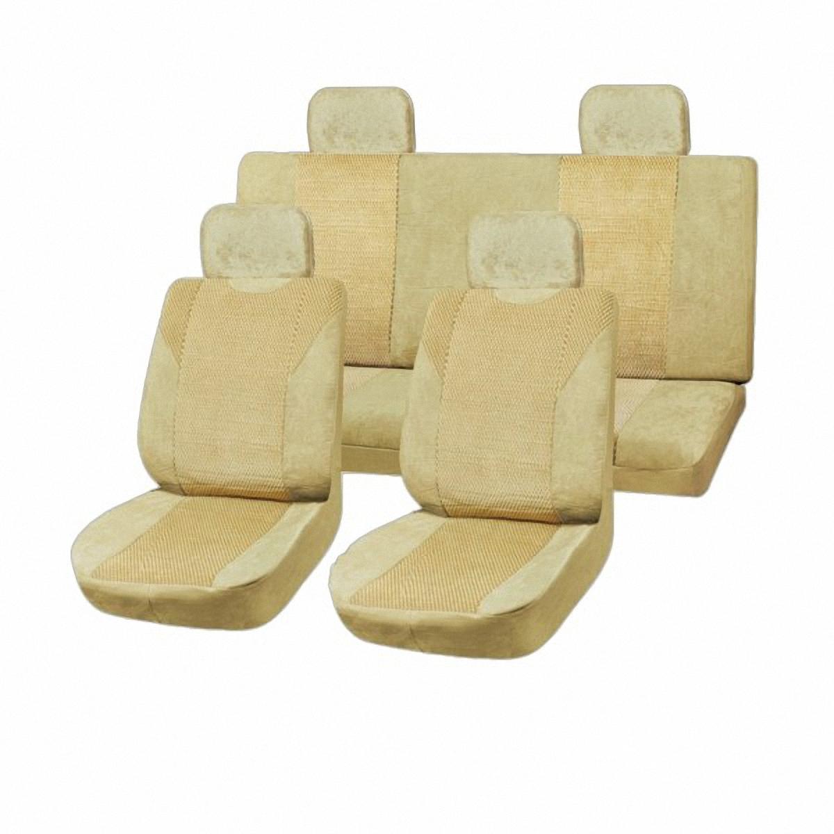 Чехлы автомобильные Skyway. SW-111029 BE/S01301005SW-111029 BE/S01301005Вам не хватает уюта и комфорта в салоне? Самый лучший способ изменить это – «одеть» ваши сидения в чехлы SKYWAY. Изготовленные из прочного материала они защитят ваш салон от износа и повреждений. Более плотный поролон позволяет чехлам полностью прилегать к сидению автомобиля и меньше растягиваться в процессе использования. Ткань чехлов на сиденья SKYWAY не вытягивается, не истирается, великолепно сохраняет форму, устойчива к световому и тепловому воздействию, а ровные, крепкие швы не разойдутся даже при сильном натяжении.