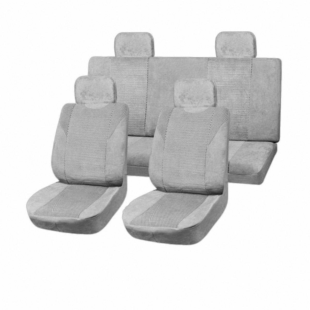 Чехлы автомобильные Skyway. SW-111028 GY/S01301004SW-111028 GY/S01301004Вам не хватает уюта и комфорта в салоне? Самый лучший способ изменить это – «одеть» ваши сидения в чехлы SKYWAY. Изготовленные из прочного материала они защитят ваш салон от износа и повреждений. Более плотный поролон позволяет чехлам полностью прилегать к сидению автомобиля и меньше растягиваться в процессе использования. Ткань чехлов на сиденья SKYWAY не вытягивается, не истирается, великолепно сохраняет форму, устойчива к световому и тепловому воздействию, а ровные, крепкие швы не разойдутся даже при сильном натяжении.