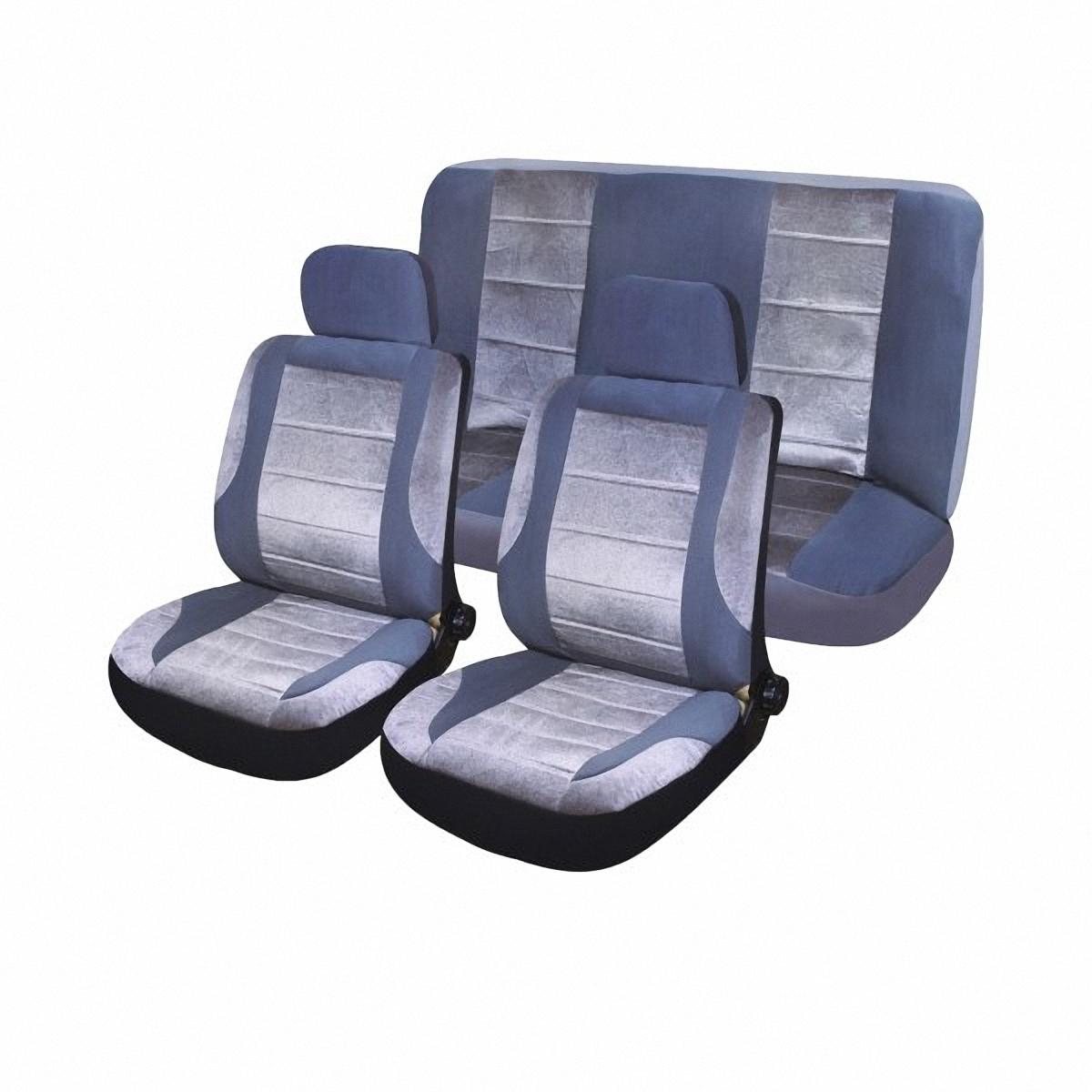 Чехлы автомобильные Skyway. SW-101091 DGY/LGY/S01301003SW-101091 DGY/LGY/S01301003Комплект классических универсальных автомобильных чехлов Skyway изготовлен из велюра. Чехлы защитят обивку сидений от вытирания и выцветания. Благодаря структуре ткани, обеспечивается улучшенная вентиляция кресел, что позволяет сделать более комфортными долгое пребывание за рулем во время дальней поездки.