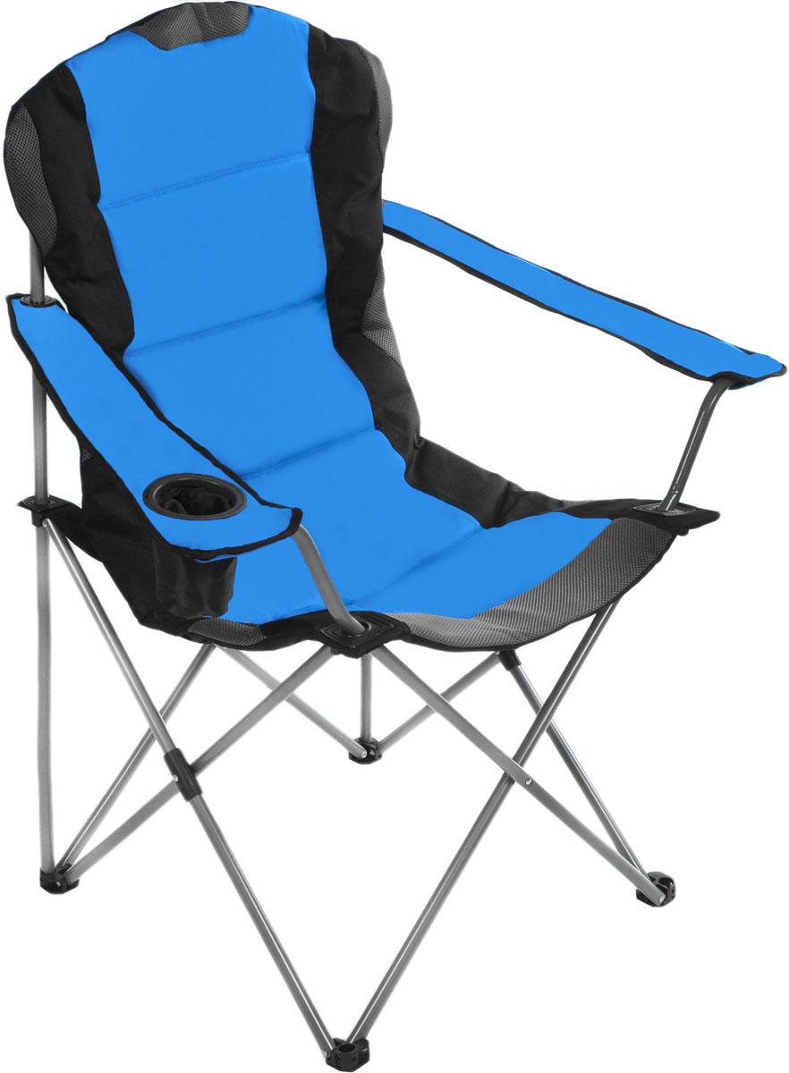 Кресло складное Green Glade, цвет: синий, 60 х 66 х 50/95 смМ2305Складное кресло Green Glade прекрасно подойдет для отдыха на природе или на даче. Кресло удобно и компактно складывается, легко раскладывается. Каркас выполнен из стали, а сиденье и подлокотники - из полиэстера с ПВХ набивкой из пеноматериала. Имеются участки из Mesh-сетки, которая поможет обеспечить хорошую воздухопроницаемость. Один из подлокотников оснащен подстаканником. Кресло выдерживает нагрузку до 120 кг. Для хранения предусмотрен чехол с ручкой для переноски на плече. Размер кресла (в собранном виде): 110 см х 20 см х 20 см. Размер кресла (в разобранном виде): 60 см х 66 см х 50/95 см. Диаметр стальных стрежней: 16 мм.