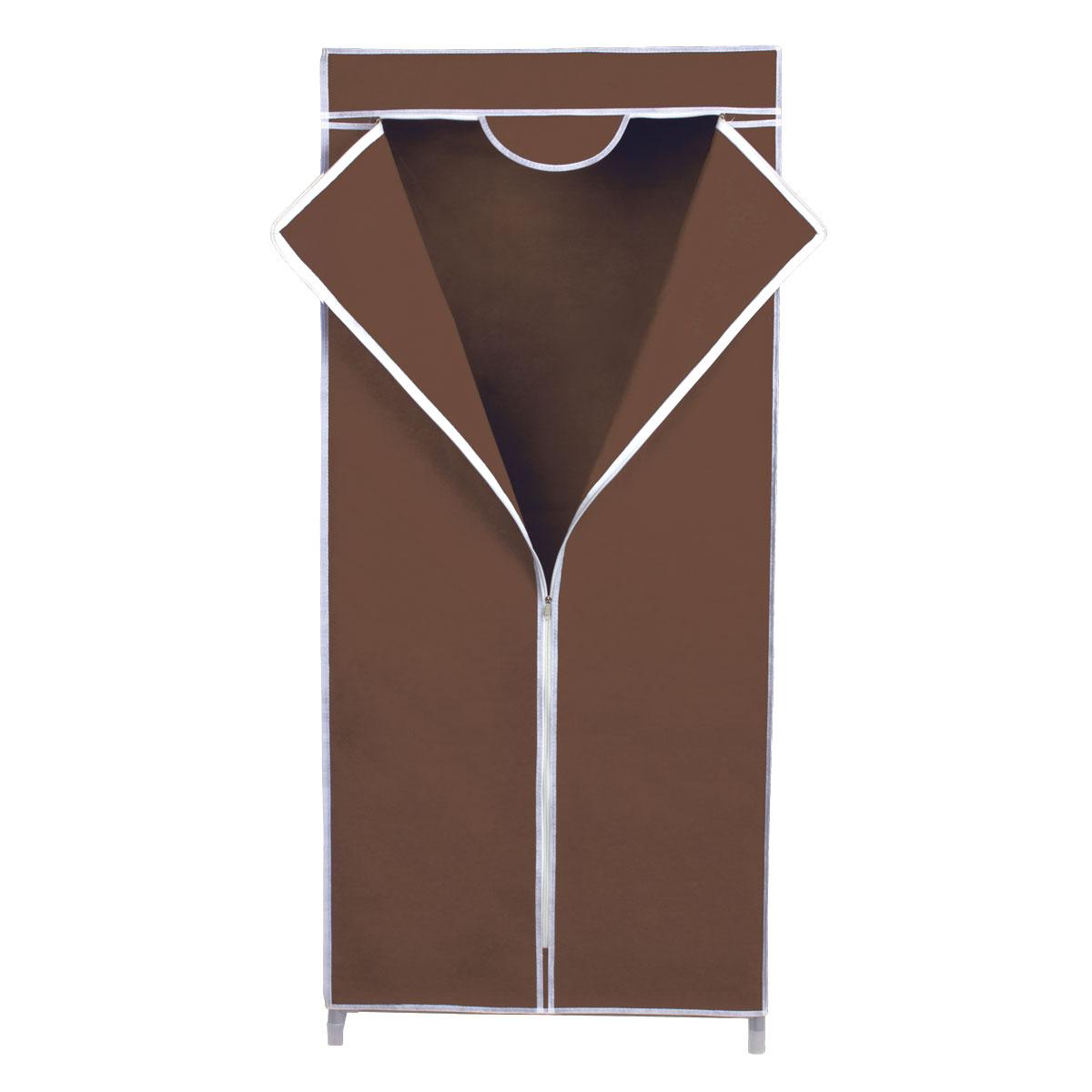 Гардероб для хранения одежды Miolla, с перекладиной, цвет: коричневый, 67 х 42 х 150 см2507048BRГардероб Miolla - это идеальное решение для хранения одежды, обуви и аксессуаров. Само изделие выполнено из нетканого материала, а каркас - из прочного металла, благодаря чему изделие не деформируется и отлично сохраняет форму. Гардероб имеет перекладину. Такой гардероб поможет с легкостью организовать пространство в шкафу или гардеробе.