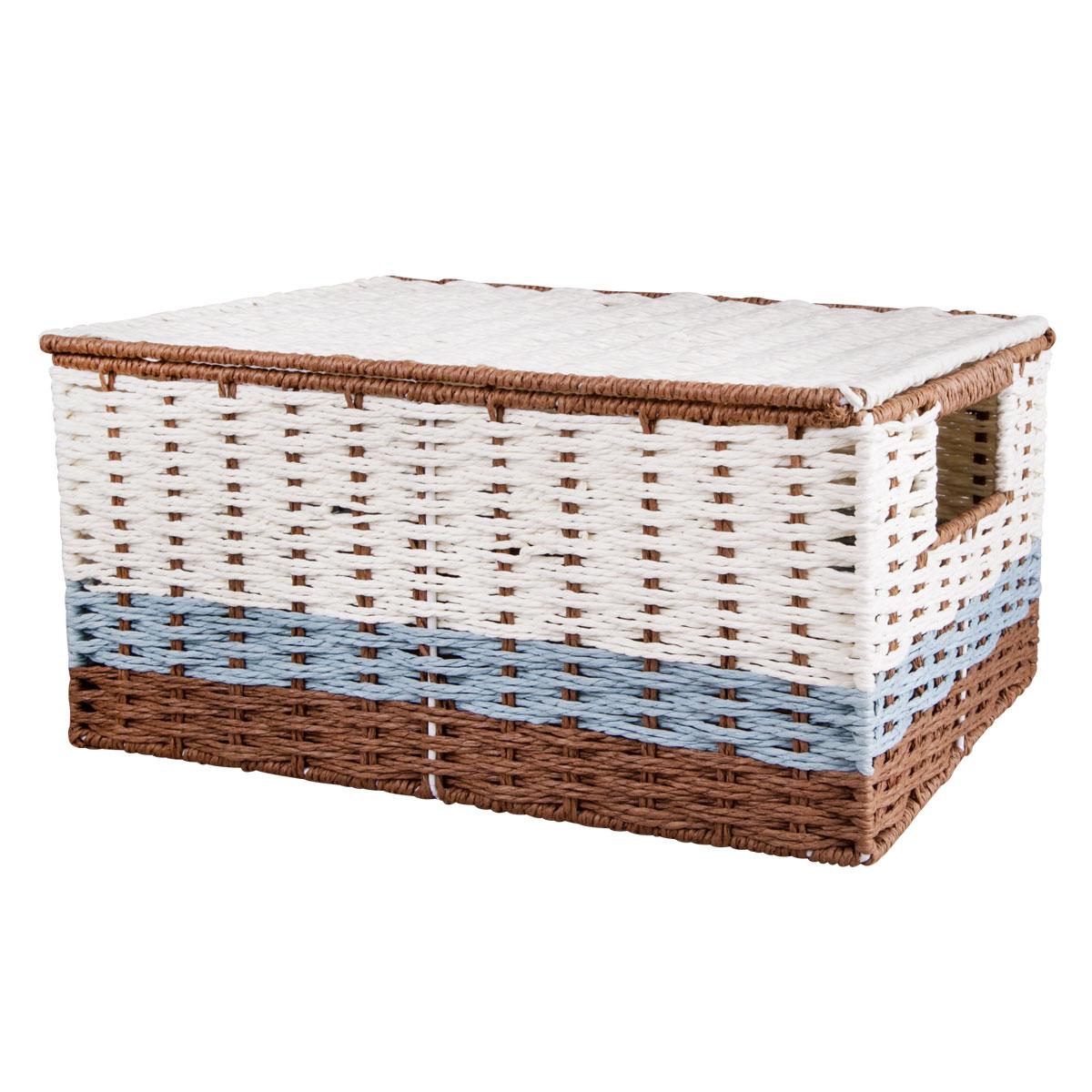Корзина для хранения Miolla, с крышкой и ручками, 45 х 33 х 21 см . BSK5-LBSK5-LЛучшее решение для хранения вещей - корзина для хранения Miolla. Экономьте полезное пространство своего дома, уберите ненужные вещи в удобную корзину и используйте ее для хранения дорогих сердцу вещей, которые нужно сберечь в целости и сохранности.