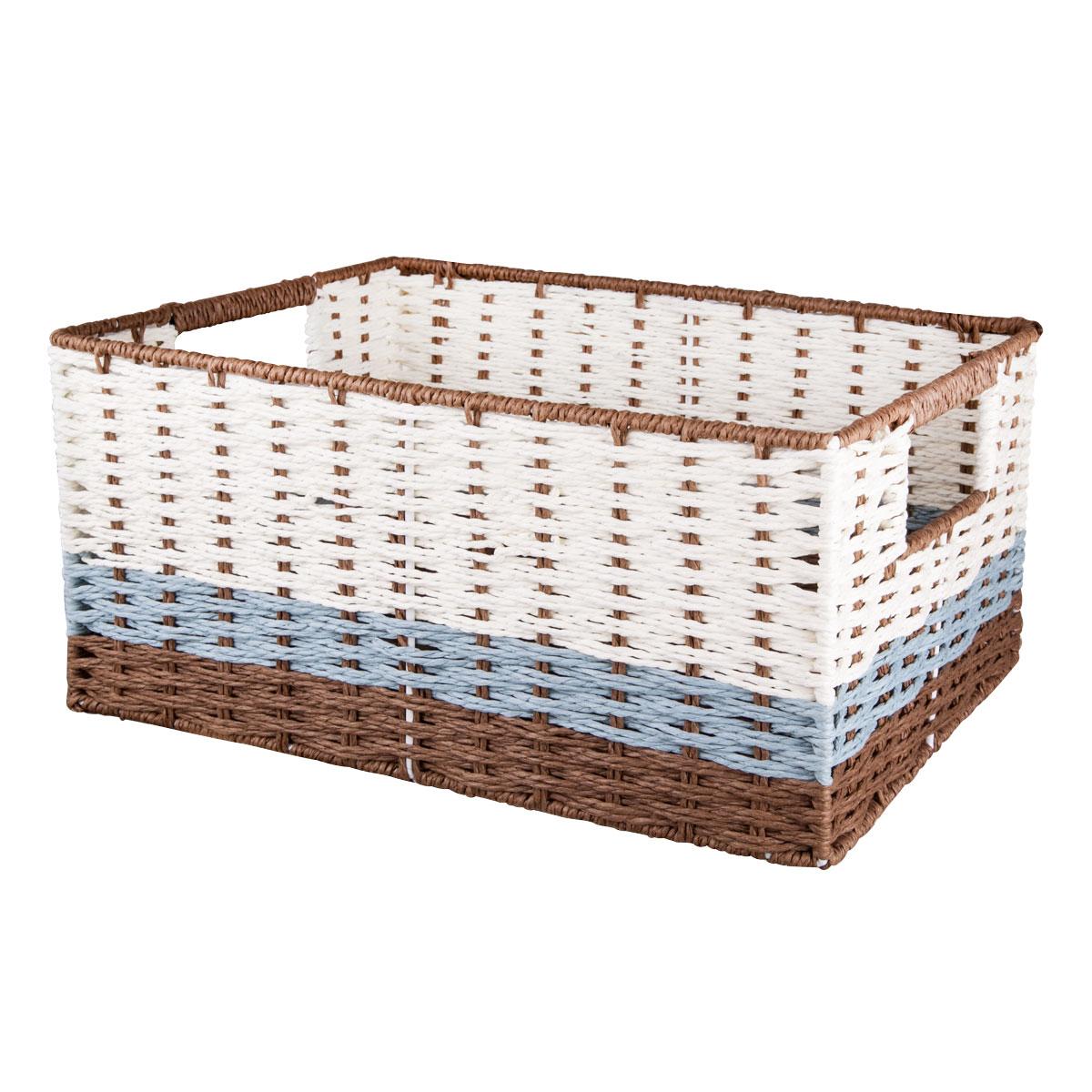 Корзина для хранения Miolla, с ручками, без крышки, 45 х 33 х 21 см. BSK6-LBSK6-LЛучшее решение для хранения вещей - корзина для хранения Miolla. Экономьте полезное пространство своего дома, уберите ненужные вещи в удобную корзину и используйте ее для хранения дорогих сердцу вещей, которые нужно сберечь в целости и сохранности.
