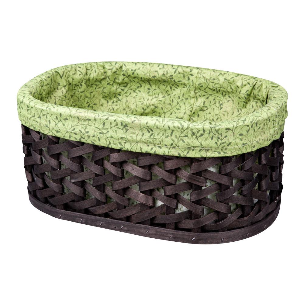 Корзина плетеная Miolla, 38 х 28 х 16 см. QL400411-LQL400411-LВместительная плетеная корзина для хранения Miolla - отличное решение для хранения ваших вещей. Корзина овальной формы выполнена из дерева и дополнена текстилем с растительным рисунком. Подходит для хранения бытовых вещей, аксессуаров для рукоделия и других вещей дома и на даче. Экономьте полезное пространство своего дома, уберите ненужные вещи в удобную корзину и используйте ее для хранения дорогих сердцу вещей, которые нужно сберечь в целости и сохранности.