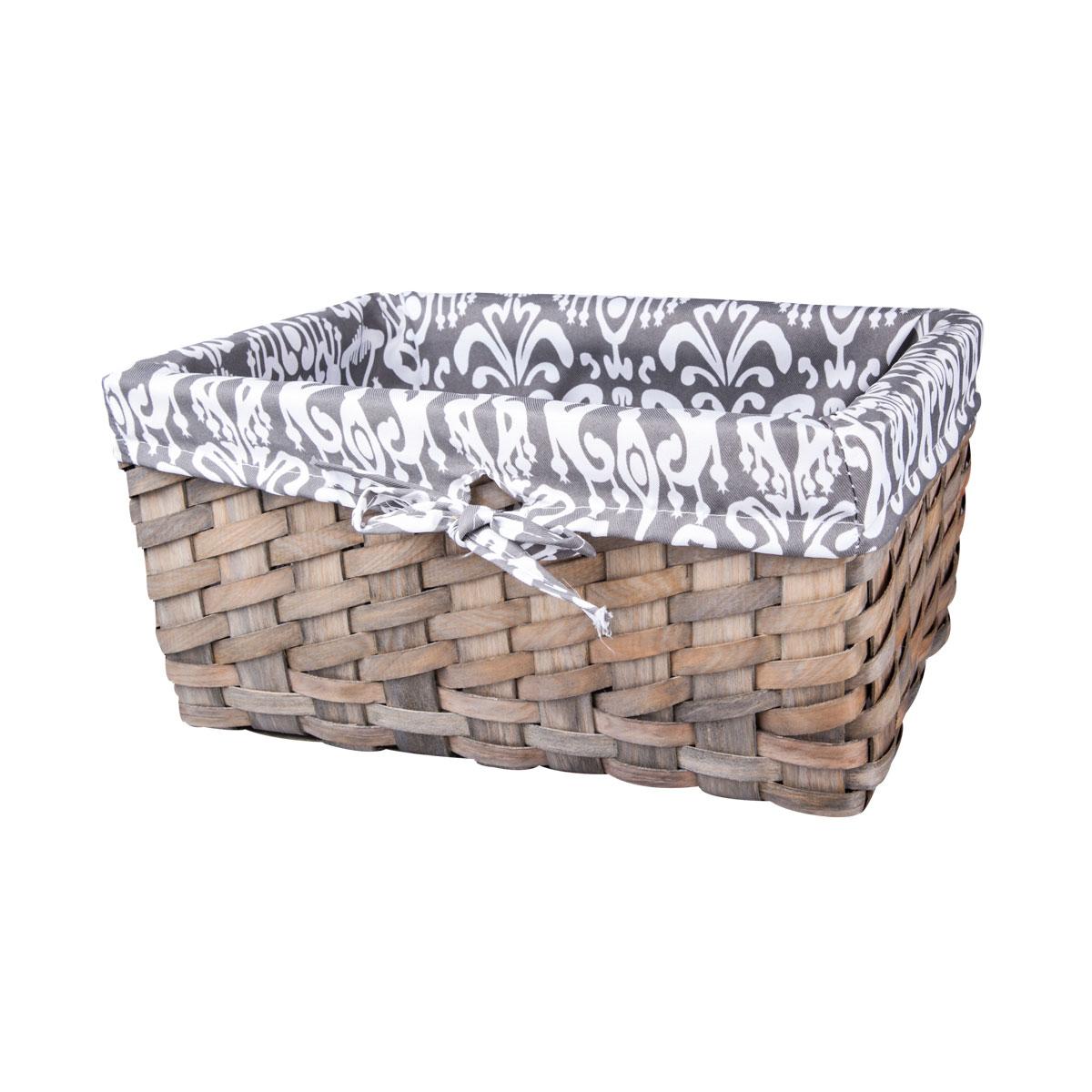 Корзина плетеная Miolla, 32 х 21 х 15 смQL400435-MЛучшее решение для хранения вещей - корзина для хранения Miolla. Экономьте полезное пространство своего дома, уберите ненужные вещи в удобную корзину и используйте ее для хранения дорогих сердцу вещей, которые нужно сберечь в целости и сохранности. Корзина изготовлена из дерева. Специальные отверстия на стенках создают идеальные условия для проветривания. Размер корзины: 32 х 21 х 15 см.