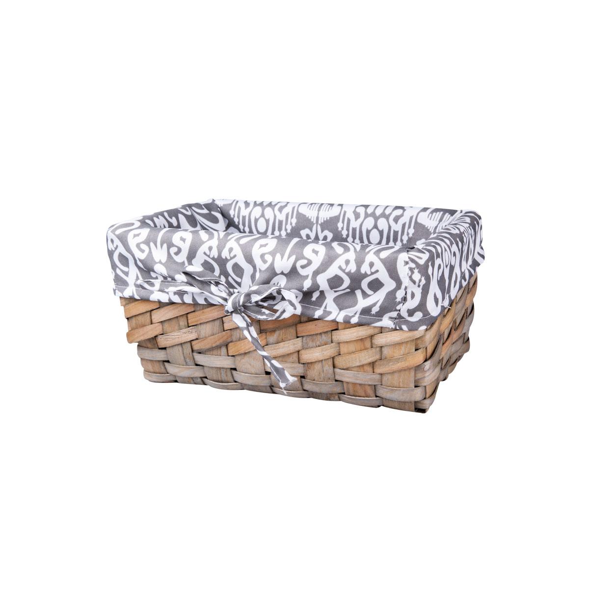 Корзина плетеная Miolla, 27 х 16 х 13 см. QL400435-SQL400435-SВместительная плетеная корзина для хранения Miolla - отличное решение для хранения ваших вещей. Корзина выполнена из дерева и дополнена текстилем. Подходит для хранения бытовых вещей, аксессуаров для рукоделия и других вещей дома и на даче. Экономьте полезное пространство своего дома, уберите ненужные вещи в удобную корзину и используйте ее для хранения дорогих сердцу вещей, которые нужно сберечь в целости и сохранности.