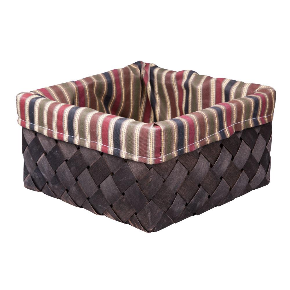 Корзина плетеная Miolla, 25 х 25 х 13 см. QL400439-MQL400439-MВместительная плетеная корзина для хранения Miolla - отличное решение для хранения ваших вещей. Корзина выполнена из дерева и дополнена текстилем с принтом в полоску. Подходит для хранения бытовых вещей, аксессуаров для рукоделия и других вещей дома и на даче. Экономьте полезное пространство своего дома, уберите ненужные вещи в удобную корзину и используйте ее для хранения дорогих сердцу вещей, которые нужно сберечь в целости и сохранности.