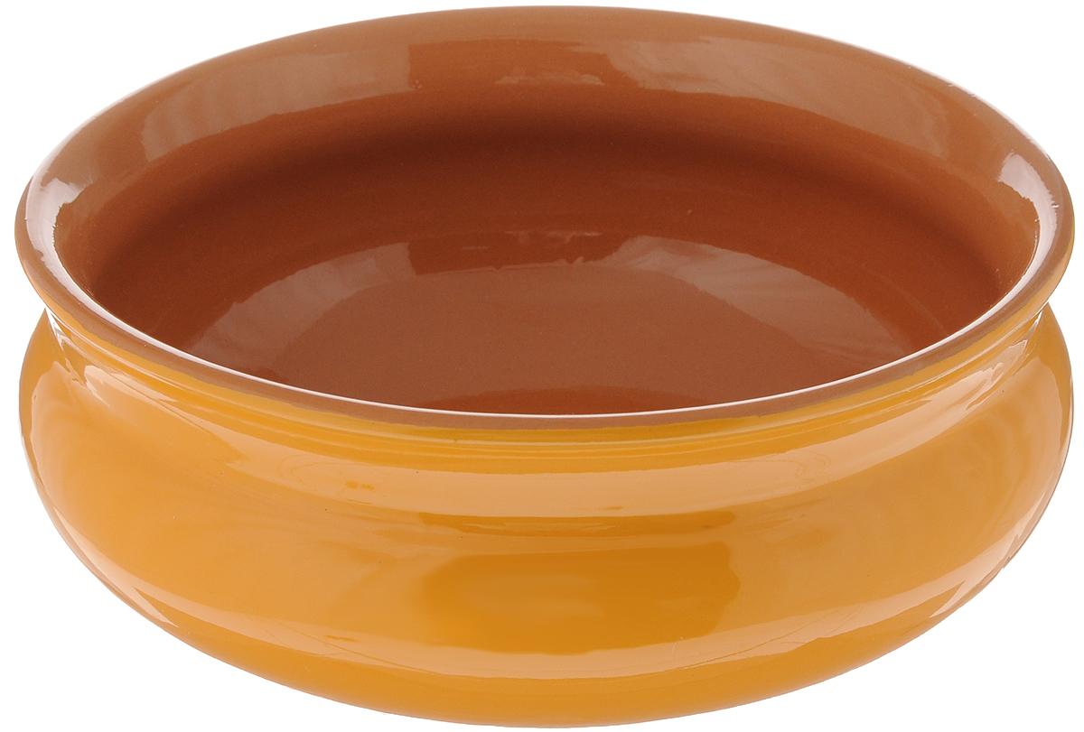 Тарелка глубокая Борисовская керамика Скифская, цвет: горчичный, коричневый, 800 млРАД14457937_горчичный, коричневыйГлубокая тарелка Борисовская керамика Скифская выполнена из высококачественной керамики. Изделие сочетает в себе изысканный дизайн с максимальной функциональностью. Она прекрасно впишется в интерьер вашей кухни и станет достойным дополнением к кухонному инвентарю. Тарелка Борисовская керамика Скифская подчеркнет прекрасный вкус хозяйки и станет отличным подарком. Можно использовать в духовке и микроволновой печи. Диаметр тарелки (по верхнему краю): 16 см. Объем: 800 мл.