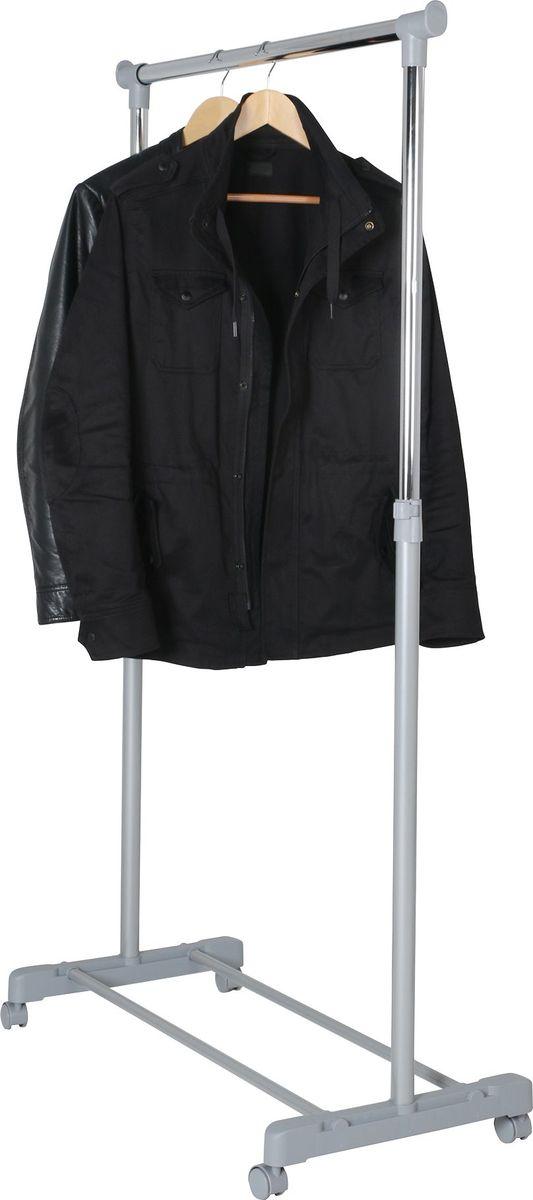 Стойка для одежды Axentia, на колесиках, высота 95-170 см116818Экономичная и практичная стойка Axentia предназначена для хранения одежды и аксессуаров. Каркас стойки выполнен из хромированного металла. Высота стойки регулируется. Стойка имеет высокопрочные пластиковые крепежи, основание для хранения обуви и оснащена четырьмя колесиками со стопорами, что обеспечивает мобильность ее перемещения. Изделие снабжено быстросъемными надежными зажимами. Современный минималистический дизайн подойдет для любого помещения. Максимально допустимая нагрузка на стойку до 15 кг. Толщина штанги: 2,7 см. Толщина штанги 2,7 см. Размер вешалки 85 х 45 х 95-170 см. Упаковка коробка- 92,7 х 22,6 х 5,2 см.