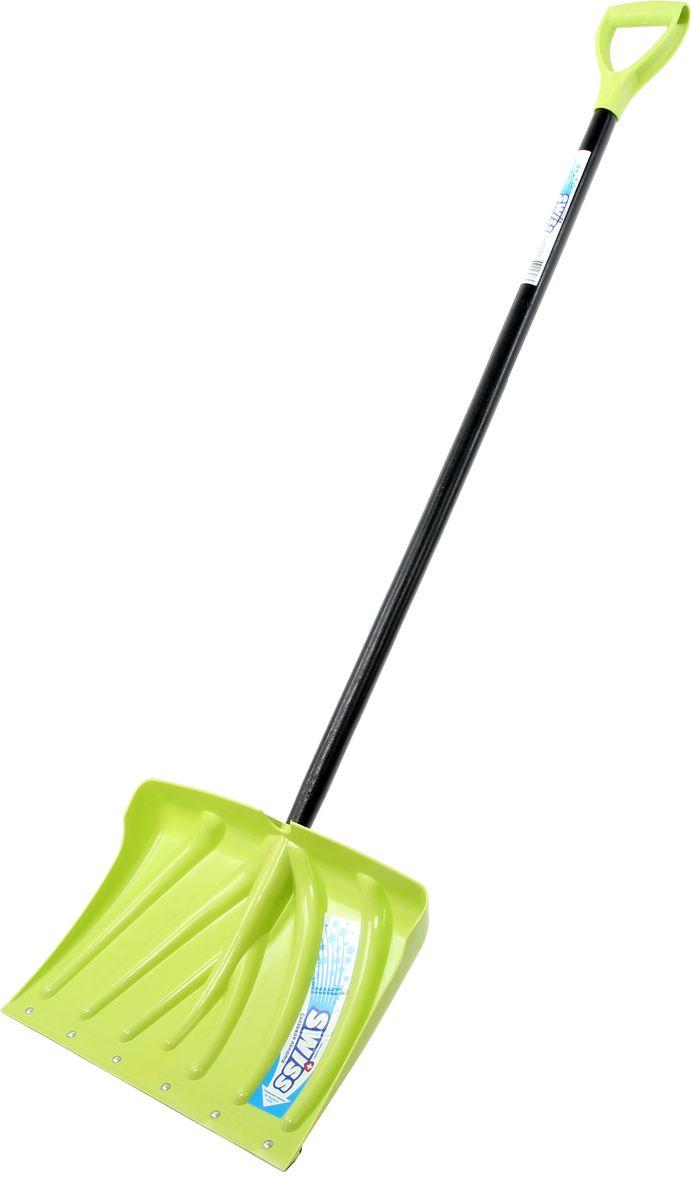 Лопата снеговая Swiss, цвет: зеленый, 44 х 33 см301-зеленая