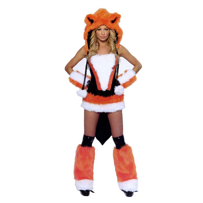 Маскарадный костюм Лисичка. 2714727147Маскарадный костюм Лисичка, выполненный из полиэстера рыжего цвета, идеально подойдет для карнавальной вечеринки. Костюм состоит из платья с хвостиком, головного убора, нарукавников и декоративных чехлов для обуви. Костюм привлечет к вам внимание и не оставит незаметным среди остальных героев праздника. В таком костюме веселое настроение и масса положительных эмоций вам будут обеспечены!