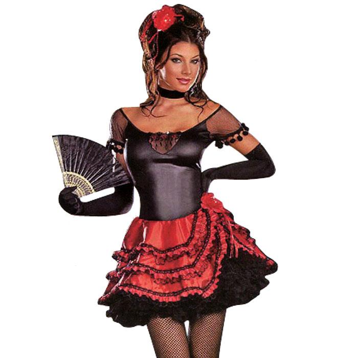 Маскарадный костюм для женщин Испанка. Рост 160-170 см27140У вас намечается маскарад или веселая вечеринка? Маскарадный костюм Испанка, выполненный из полиэстера, идеально подойдет для подобного мероприятия. Костюм состоит из платья черно-красного цвета. Платье декорировано красным кружевом, черной сетчатой тканью и красной кружевной розой. Костюм привлечет к вам внимание и не оставит незаметной среди остальных героев праздника. В таком костюме веселое настроение и масса положительных эмоций вам будут обеспечены!