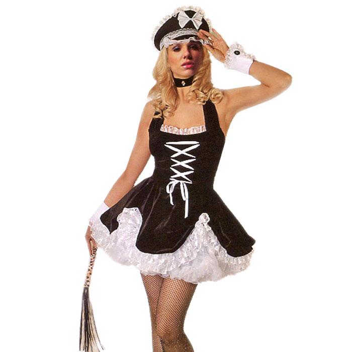 Маскарадный костюм для женщин Горничная. Рост 160-170 см. 2713927139У вас намечается маскарад или веселая вечеринка? Маскарадный костюм Горничная, выполненный из полиэстера, идеально подойдет для подобного мероприятия. Костюм состоит из платья черно-белого цвета. Платье украшено лентами и кружевом. Нижняя юбка выполнена из сетки белого цвета. Костюм привлечет к вам внимание и не оставит незаметной среди остальных героев праздника. В таком костюме веселое настроение и масса положительных эмоций вам будут обеспечены!