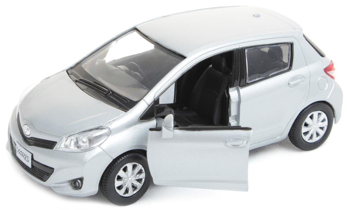Рыжий Кот Модель автомобиля Toyota YarisИ-1215Модель Toyota Yaris - миниатюрная копия настоящего автомобиля. Стильная модель автомобиля привлечет к себе внимание не только детей, но и взрослых. Этот автомобиль, без сомнения, известен всем автолюбителям. Игрушка представлена в масштабе 1:32 и является копией настоящего авто. Повышенную прочность модели обеспечивает металлический корпус. В оформлении использованы пластиковые элементы, колеса обладают свободным ходом. Такая модель станет отличным подарком не только любителю автомобилей, но и человеку, ценящему оригинальность и изысканность, а качество исполнения представит такой подарок в самом лучшем свете.