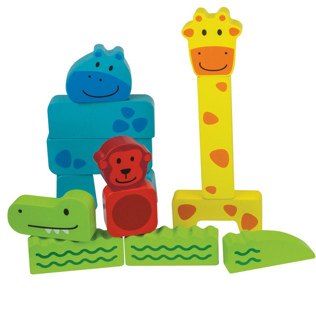 Beleduc Пирамидка Зоопарк18008Собери свое животное! Ребенок впервые приобретает навык сбора пазлов и построения блоков. Складывая блоки в свободной форме, ребенок фантазирует и создает совершенно новое животное, что также способствует развитию мелкой моторики. На следующем этапе необходимо правильно собрать животное из блоков. Таким образом, ребенок познает связи и отношения между предметами, такие как «длинный-короткий» и «большой- маленький». Деревянные блоки снабжены детскими иллюстрациями, играть с которыми будет одно удовольствие!