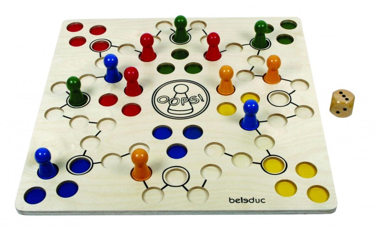 Beleduc Обучающая игра Ooпс!23654Сверхудобный дизайн фишек и игровой панели доставят большое удовольствие не только детям, но и людям с ограниченными возможностями. Игра развивает моторику и координацию движений. Ребенок учится определять цвета