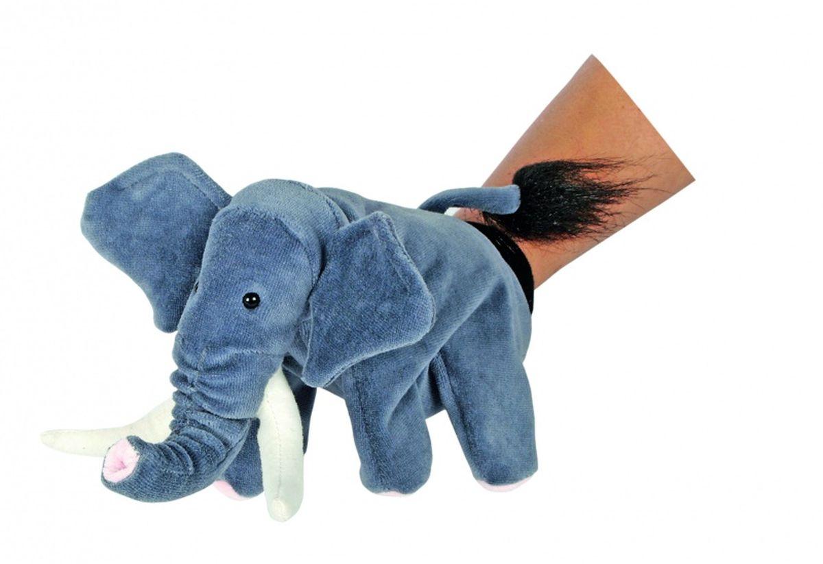 Beleduc Кукла на руку Слон40039Плюшевая игрушка «Слон» - это очаровательная мягкая игрушка, выполненная в виде забавного зверька, вызовет умиление и улыбку у каждого, кто ее увидит. Она станет замечательным подарком, как ребенку, так и взрослому. Игрушка удивительно приятна на ощупь и способствуют развитию мелкой моторики рук малыша. Мягкая игрушка может стать милым подарком, а может быть и лучшим другом на все времена. Способствует развитию логического и образного мышления, учит различать предметы по цвету и размеру, развивает мелкую моторику рук.