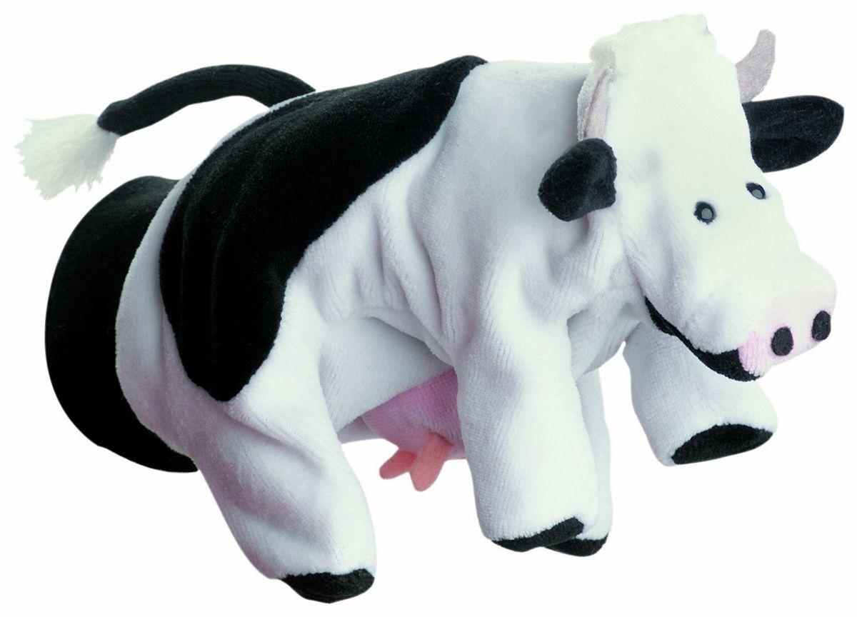 Beleduc Кукла на руку Корова40097Плюшевая игрушка «Корова» - это очаровательная мягкая игрушка, выполненная в виде забавного зверька, вызовет умиление и улыбку у каждого, кто ее увидит. Она станет замечательным подарком, как ребенку, так и взрослому. Игрушка удивительно приятна на ощупь и способствуют развитию мелкой моторики рук малыша. Мягкая игрушка может стать милым подарком, а может быть и лучшим другом на все времена. Способствует развитию логического и образного мышления, учит различать предметы по цвету и размеру, развивает мелкую моторику рук.