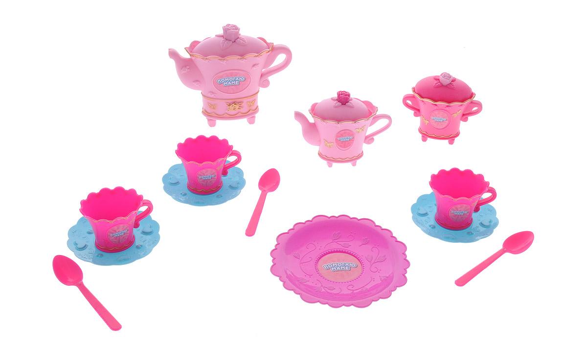 ABtoys Набор детской посуды для чаепития 14 предметовPT-00404Набор детской посуды для чаепития из серии Помогаю маме прекрасно подойдет ребенку для веселых игр. Набор включает в себя кастрюлю (упаковка), чайник, кофейник, сахарницу, 3 чашки, 3 блюдца, 3 ложки, блюдо. Предметы набора выполнены из высококачественного пластика. Благодаря этому замечательному набору посуды ваша девочка сможет собрать у себя гостей и устроить потрясающее чаепитие, которое понравится всем на нем присутствующим. Такой набор станет прекрасным дополнением к игровой ситуации с приглашением гостей к столу!