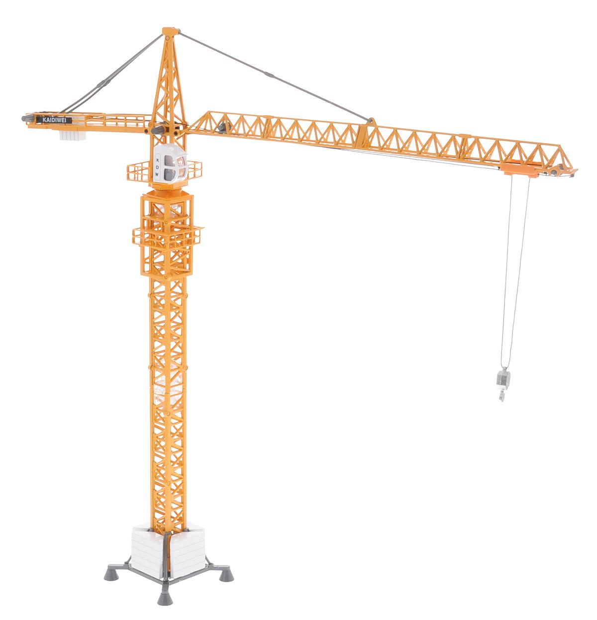 ABtoys Башенный кранC-00151Башенный кран ABtoys относится к специальной строительной технике. Это модель настоящей машины, используемой в строительстве. Кран может стать отличной игрушкой для мальчиков, обожающих машинки и мечтающих стать строителями. А процесс игры может быть настолько увлекательным, что ребенок не заметит, как быстро пролетает время. Кран оснащен поворотом кабины со стрелой на 360 градусов, а также возможно управление стрелой и подъем/опускание грузов. Благодаря великолепной точности, с которой создатели этой модели масштабом 1/50 передали внешний вид настоящего башенного крана, игрушка станет подлинным украшением любой коллекции моделей строительной техники. Изделие будет долго служить своему владельцу благодаря металлическому корпусу. Сделайте вашему ребенку такой замечательный подарок!