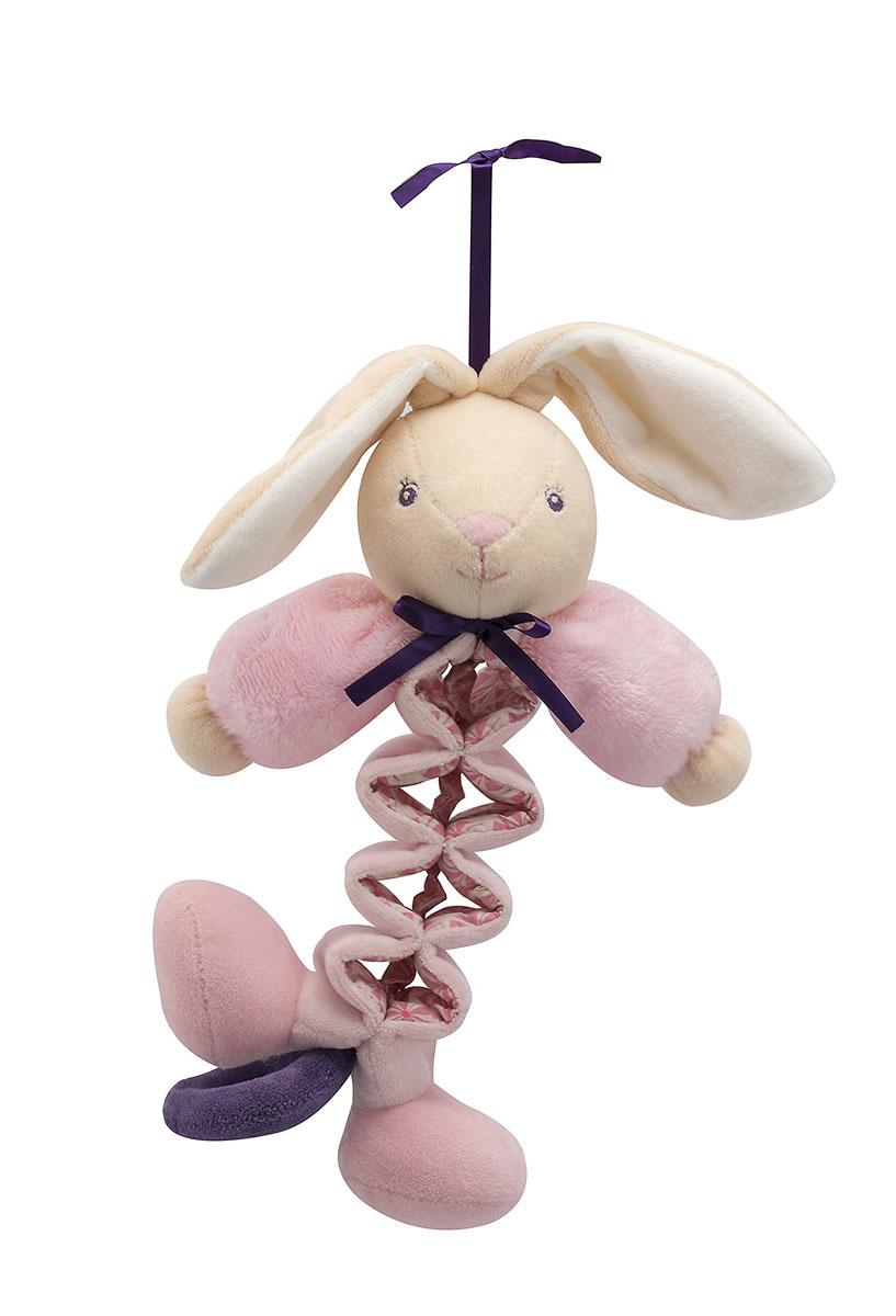 Kaloo Музыкальная игрушка-подвеска ЗаяцK969874Мягкая музыкальная игрушка-подвеска Kaloo Заяц привлечет внимание малыша и надолго станет его постоянным спутником и любимой игрушкой. Зайчик в виде гармошки выполнен из нескольких видов ткани, что прекрасно будет развивать тактильные ощущения малыша. Потянув за хвостик игрушки вниз, малыш услышит мелодичную колыбельную. Игрушка выполнена из качественных, безопасных для здоровья детей материалов, которые не вызывают аллергии, приятны на ощупь и доставляют большое удовольствие во время игр. Игрушку приятно держать в руках, прижимать к себе и придумывать разнообразные игры. Игры с мягкими игрушками развивают тактильную чувствительность и сенсорное восприятие. Бренд Kaloo выпускает игрушки и аксессуары для малышей с 1998 года. Дизайнеры продумывают и придают значение каждому этапу в производстве игрушек, начиная от эскиза и заканчивая упаковкой готового изделия. Все игрушки прошли множественные тесты и соответствуют мировым стандартам безопасности. Именно поэтому все...