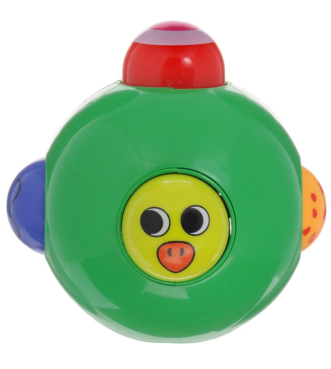Ути-Пути Погремушка 4425844258Погремушка Ути-пути учит малыша взаимодействовать с окружающим миром, знакомит со свойствами разных предметов, помогает развивать основные рефлексы: хватание, слух, координацию, зрение. Погремушка выполнена из пластика в виде шара с отверстиями, через которые высовываются маленькие разноцветные шарики с нарисованными рожицами. Если надавить на один шарик, то с противоположной стороны высунется другой.