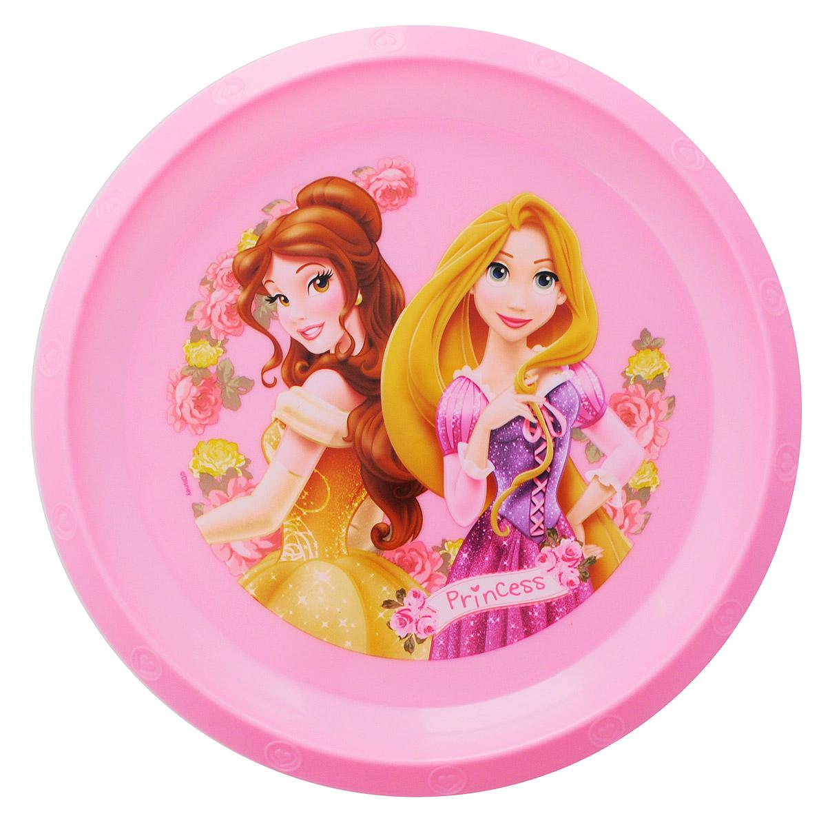 Disney Тарелка детская Принцессы Белль и Рапунцель59212_розовыйДетская тарелка Disney Принцессы Белль и Рапунцель идеально подойдет для кормления малыша и самостоятельного приема им пищи. Тарелка выполнена из безопасного полипропилена, дно оформлено высококачественным изображением принцесс из диснеевских сказок. Такой подарок станет не только приятным, но и практичным сувениром, добавит ярких эмоций вашему ребенку! Тарелка не предназначена для использования в СВЧ-печи и посудомоечной машине.