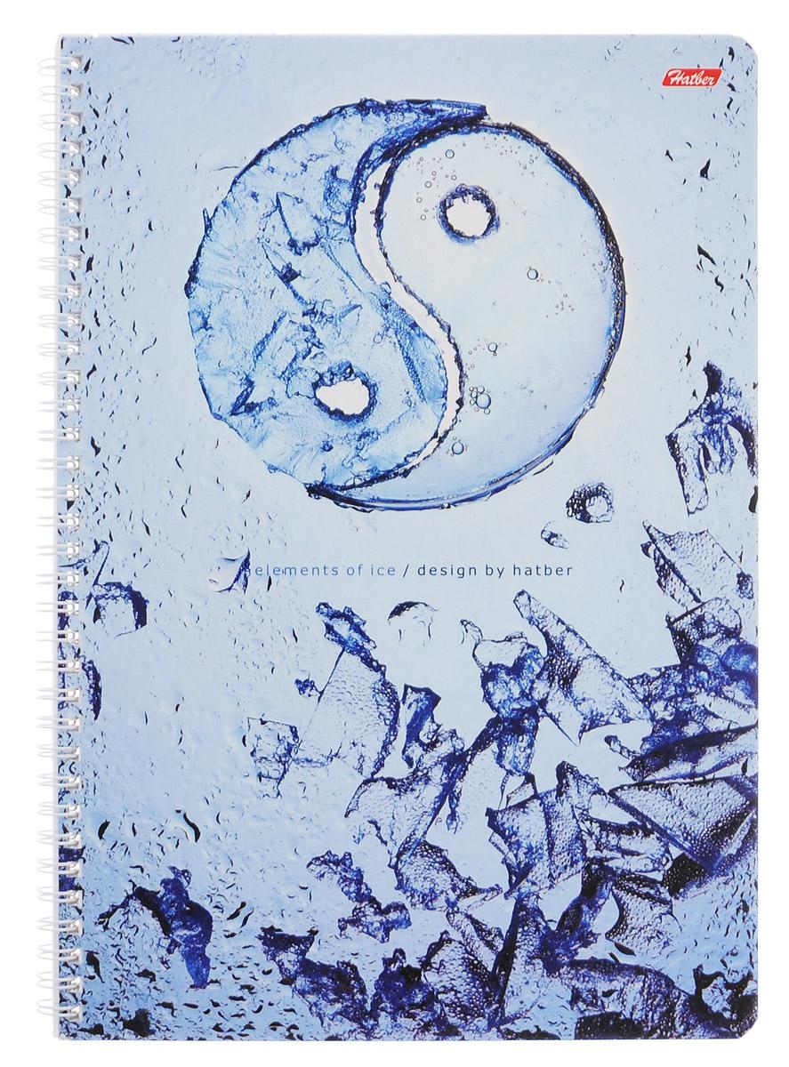 Hatber Тетрадь Ice 96 листов в клетку96Т4B1гр_IceТетрадь Hatber Ice отлично подойдет как школьнику, так и студенту. Обложка тетради выполнена из картона и дополнена изображением в виде символа инь и ян и льдинок. Внутренний блок тетради на металлическом гребне состоит из 96 листов белой бумаги с линовкой в клетку голубого цвета без полей. Листы снабжены микроперфорацией и специальными отверстиями для папки на кольцах.