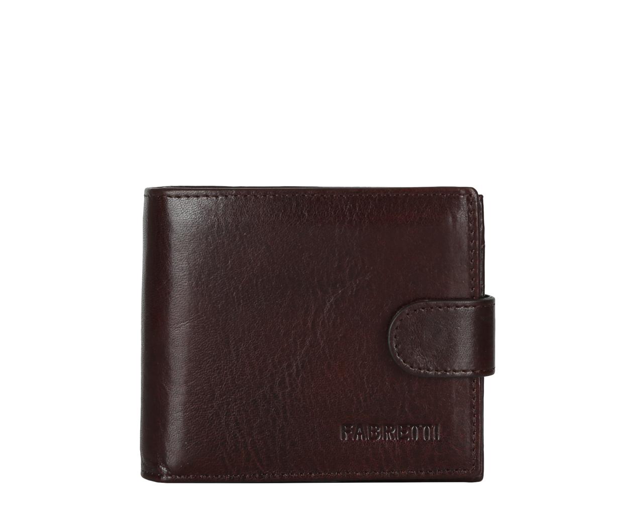 Кошелек мужской Fabretti, цвет: коричневый. 35023-brown35023-brownМужской кошелек от итальянского бренда Fabretti выполнен из натуральной кожи, которая имеет мягкую и пористую фактуру. Утонченный темно-коричневый цвет и лаконичный дизайн подчеркнут ваш элегантный стиль. Внутри изделия находятся два отделения для купюр, одно из которых на прочной молнии. Вы с легкостью сможете расположить свои кредитные и дисконтные карты с помощью 8 отделений. На тыльной стороне кошелька дизайнеры разместили вместительный карман для мелочи. Закрывается аксессуар на прочную и удобную кнопку.