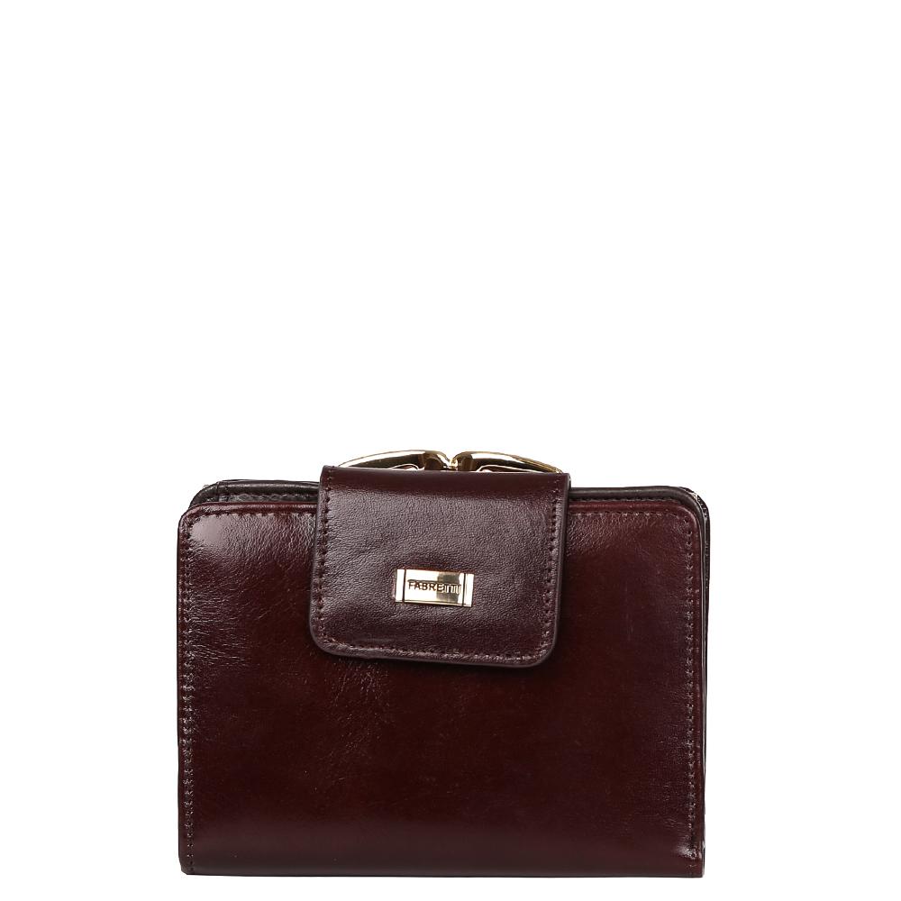 Кошелек женский Fabretti, цвет: красно-коричневый. FA003FA003-brownУдобный и элегантный женский кошелек от итальянского бренда Fabretti выполнен из натуральной мягкой кожи. Внутри имеется два вместительных отделения для купюр, а также 6 отделений для Ваших кредитных или дисконтных карточек. Вы сможете носить в кошелке свою любимую фотографию за счет удобного прозрачного отдела. На тыльной стороне расположен вместительный карман для мелочи, который закрывается на изящный рамочный замок.