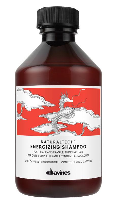 Davines Энергетический шампунь против выпадения волос New Natural Tech Energizing Shampoo, 250 мл71146Питательный шампунь предназначен для очень сухой кожи головы и ломких хрупких волос. Благодаря кремообразной текстуре получается густая пена, которую удобно наносить. Смесь из поверхностно-активных веществ легко очищает волосы. В шампуне также содержится богатый полифенолами фитоактив винограда, очень мощный антиоксидант. Эфирные масла мандарина, горького апельсина и иланг-иланга хорошо укрепляют волосы. рН 5,5.