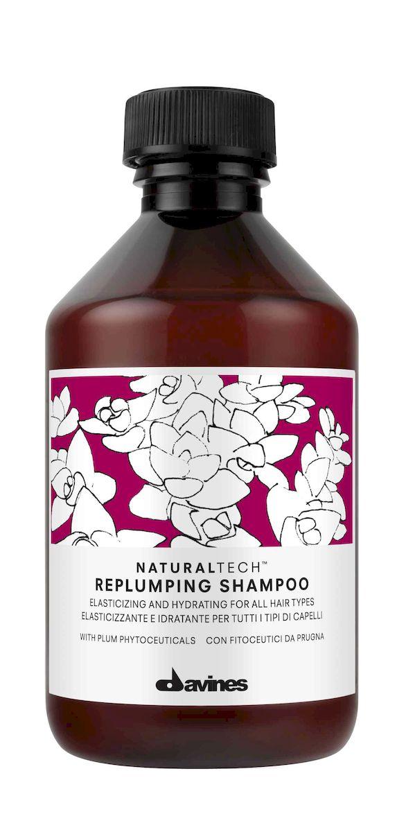 Davines Уплотняющий шампунь New Natural Tech Replumping Shampoo, 250 мл71218Бережное очищение и мягкий уход. Легкая питательная пена ухаживает за волосами, закрывает чешуйки, придавая волосам эластичность и гладкость. Фитоактивы сливы в составе поддерживают в здоровом состоянии структуру волос. Шампунь работает как антиоксидант благодаря полифенолам и флавоноидам в составе. В средстве огромное сосредоточение витаминов, минералов и полезных веществ. Кремообразная текстура шампуня легко наносится, пенится и смывается.