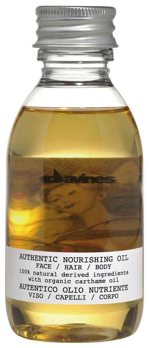 Davines Питательное масло для лица, волос и тела Authentic Formulas Nourishing oil face/hair/body, 140 мл74012Масло Nourishing oil - это питательное увлажняющее средство, которое на 100% состоит из ингредиентов природного происхождения и обладает лёгким приятным ароматом. В его формулу входит масло сафлора красильного, выполняющего функцию антиоксиданта. Кроме того, продукт обогащён натуральными маслами кунжута, жожоба и подсолнечника.