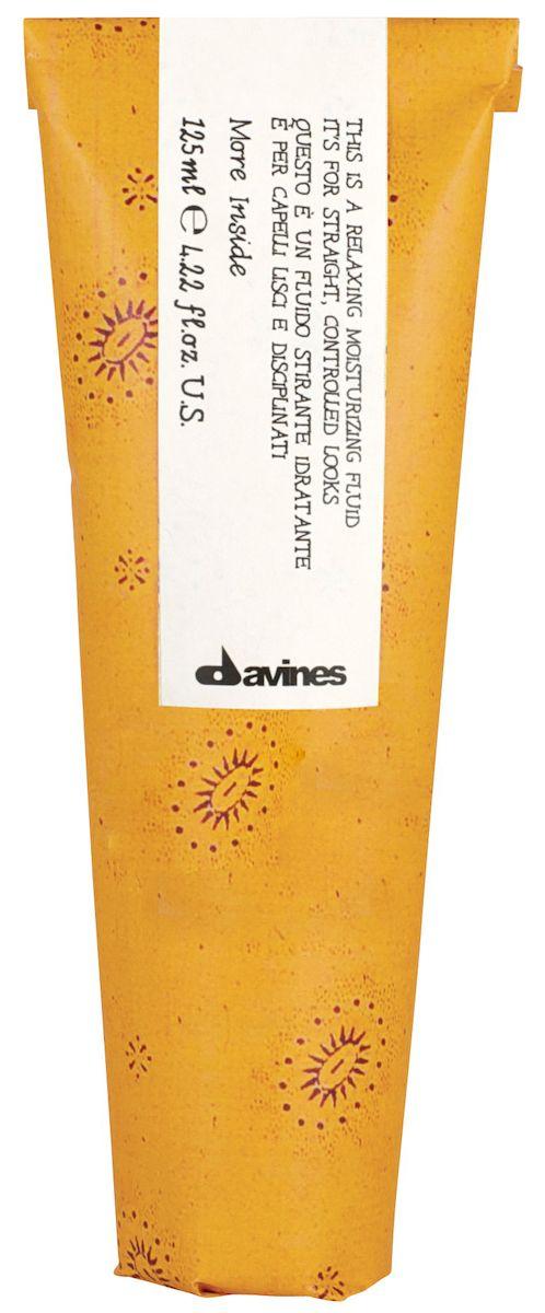 Davines Разглаживающий увлажняющий флюид для гладкого контролируемого стайлинга More Inside Relaxing Mosturizing Fluid, 125 мл87015Идеальный флюид для удержания кудрей в условиях высокой концентрации влажности. Выпрямляет локоны, препятствуя образованию завитков. Смягчает структуру волос, увлажняет и питает. Служит защитой для волос при создании прически с помощью стайлинговых приспособлений. Продукт может призвать к порядку даже самые буйные и волнистые волосы. Применение: Продукт наносится на высушенные волосы. Ипользуйте небольшой объем средства, распределите по волосам, избегая прикорневой зоны. Не смывайте. Сделайте укладку.