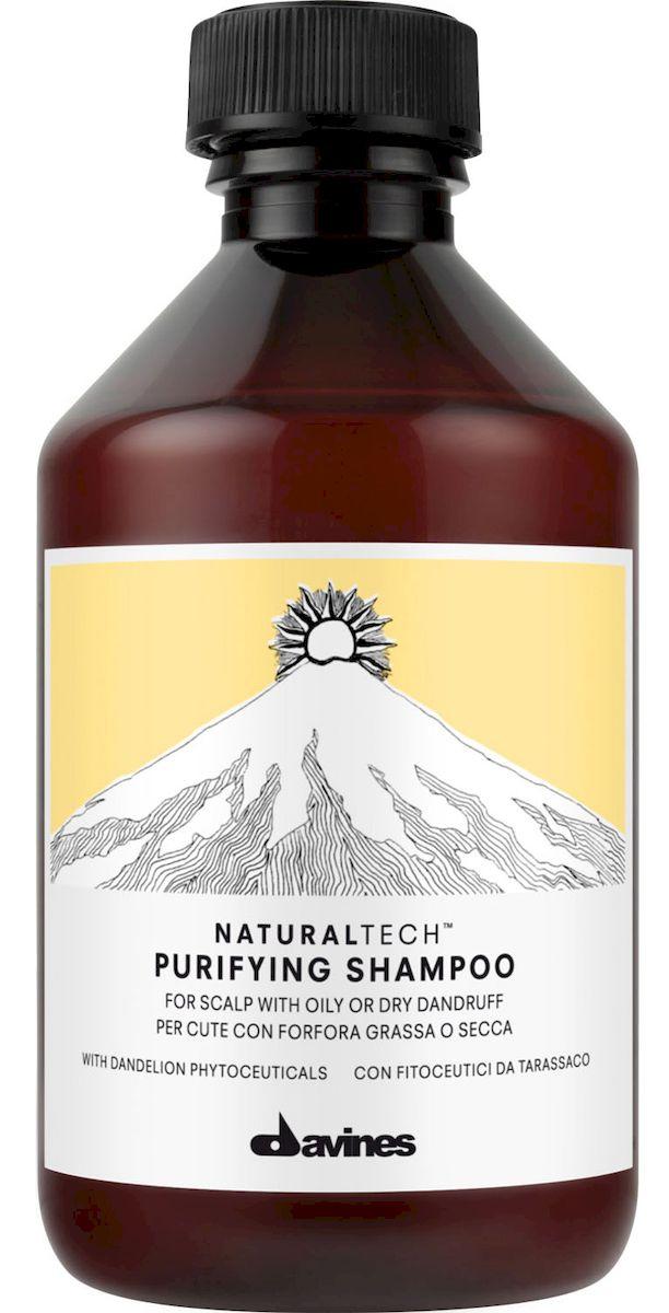 Davines Очищающий шампунь против перхоти New Natural Tech Purifying Shampoo, 250 мл71161/71212Очищающий шампунь помогает бороться с жирной и сухой себореей. Фитоактив одуванчика, входящий в формулу шампуня, помогает организму вырабатывать витамины С, А, В2 и РР, а также фосфор и кальций, что жизненно необходимо для здоровья волос. Эфирные масла шалфея, мирры и лаванды питают и укрепляют волосы. Селен дисульфида активно борется с болезнетворными бактериями. рH 4,9.