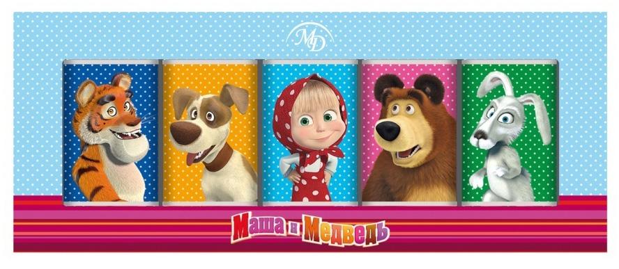 Монетный двор Маша и Медведь набор молочного шоколада, 60 г