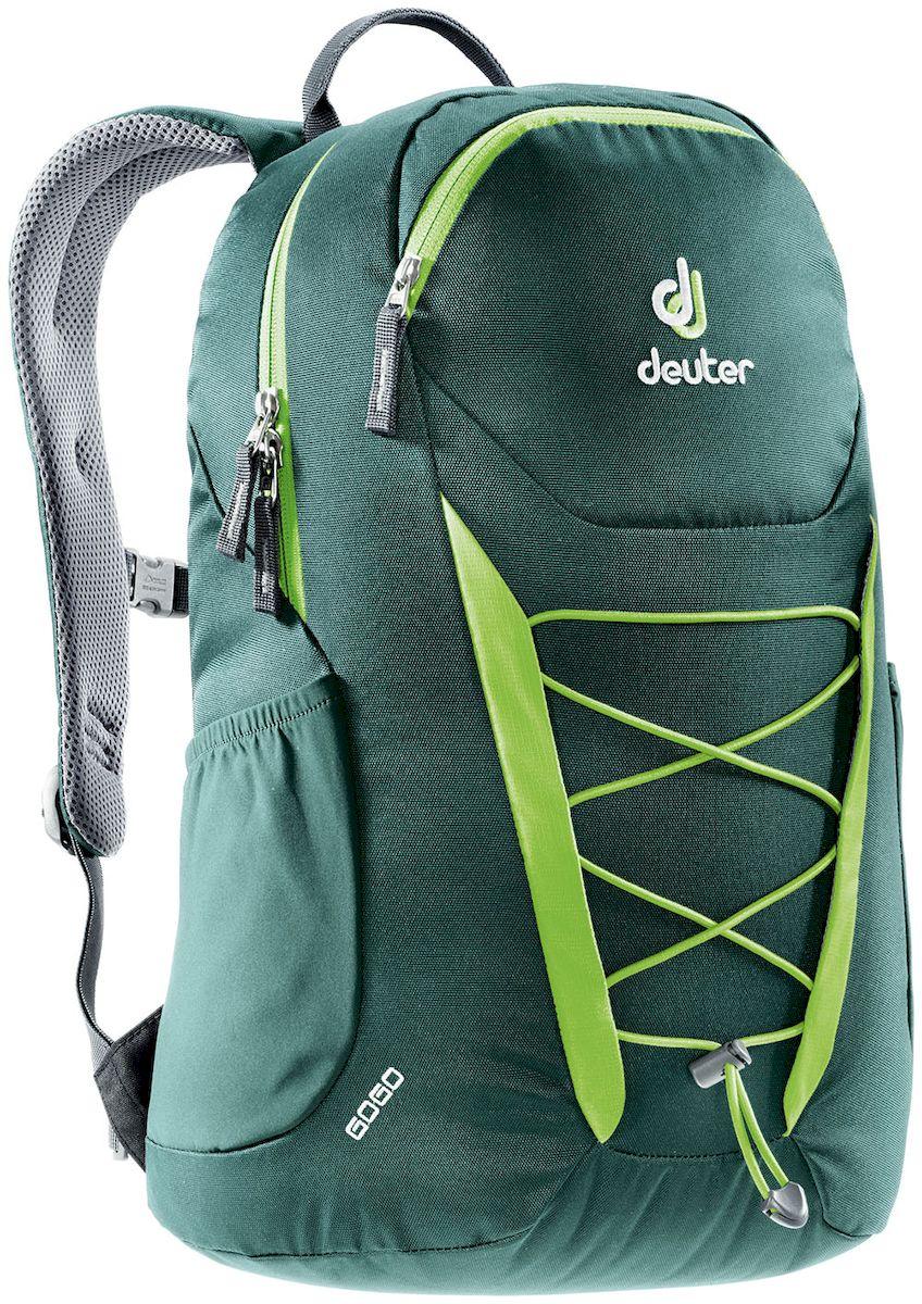 Рюкзак городской Deuter Go Go Forest-Kiwi, цвет: зеленый, 25 л. 38200163820016_2225Deuter Gogo всегда был самым популярным и классическим среди городских рюкзаков, и мы долго не решались изменить его. Но, наконец, мы сделали это! Представляем вам новый, обтекаемый, с техническим дизайном рюкзак для школы, офиса и на каждый день. В нем сохранились все практичные опции и добавилась новая комфортная подвесная система. Особенности: - Система спинки Airstripes. - Плечевые лямки анатомической формы - легкий доступ в основное отделение на U-образной молнии - фронтальный карман на молнии с карабинчиком для ключей - эластичные боковые карманы - нагрудная стропа с плавной регулировкой - главное отделение под размер папки для бумаг - отделения для документов - внутренний карман для мелких вещей - эластичный корд на фронтальной части