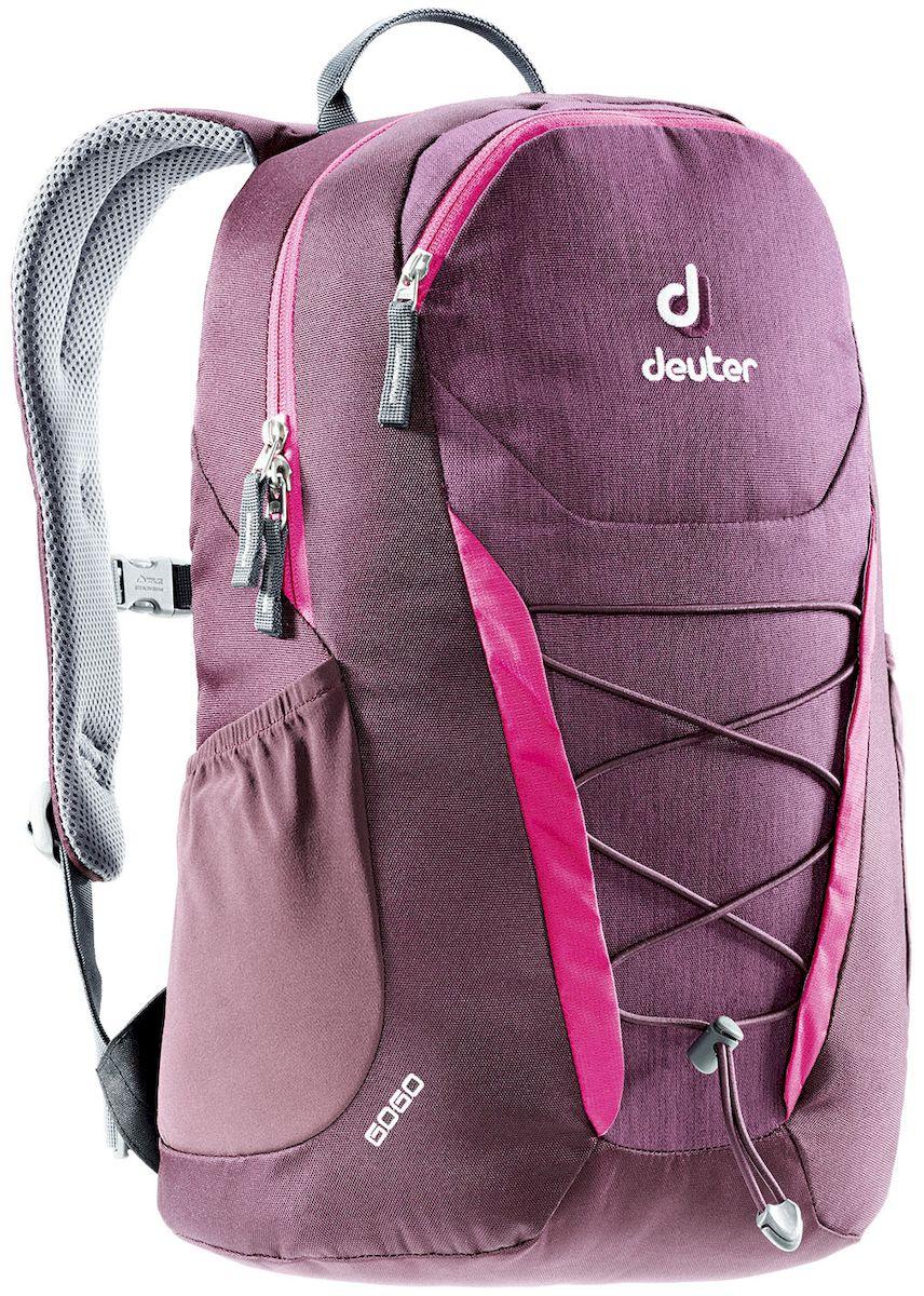 Рюкзак городской Deuter Go Go Blackberry Dresscode, цвет: бордовый, 25 л. 38200163820016_5032Deuter Gogo всегда был самым популярным и классическим среди городских рюкзаков, и мы долго не решались изменить его. Но, наконец, мы сделали это! Представляем вам новый, обтекаемый, с техническим дизайном рюкзак для школы, офиса и на каждый день. В нем сохранились все практичные опции и добавилась новая комфортная подвесная система. Особенности: - Система спинки Airstripes. - Плечевые лямки анатомической формы - легкий доступ в основное отделение на U-образной молнии - фронтальный карман на молнии с карабинчиком для ключей - эластичные боковые карманы - нагрудная стропа с плавной регулировкой - главное отделение под размер папки для бумаг - отделения для документов - внутренний карман для мелких вещей - эластичный корд на фронтальной части