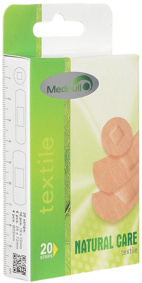 Medrull Набор пластырей Natural Care, №204742225004505Гипоаллергенные пластыри, предназначенные для людей, кожа которых, чувствительна к факторам окружающей среды. Пластыри изготовлены из приятного для кожи эластичного,текстильного материала, в состав которого входит - 65% хлопок, 35% полиамид, благодаря чему, возможность появления аллергии снижена до минимума. Свойства пластыря: грязенепроницаемые, гипоаллергенные, эластичные, дышащие, плотно прилегающие. Абсорбирующая подушечка изготовлена из вискозы и обладает высокой впитываемостью. Верхняя часть подушечки обработана полипропиленом, что защищает от вероятности прилипания пластыря к поврежденной поверхности кожи.