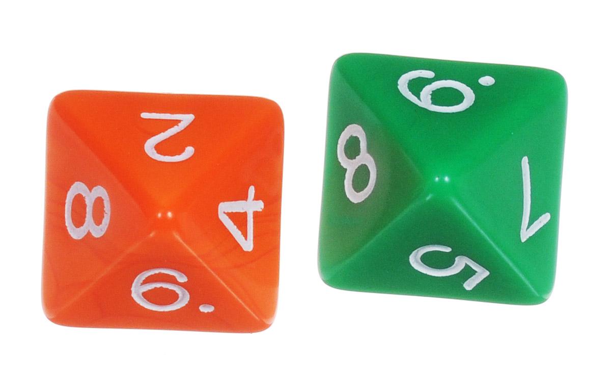 Koplow Games Набор игральных костей Простые D8 цвет оранжевый зеленый 2 шт