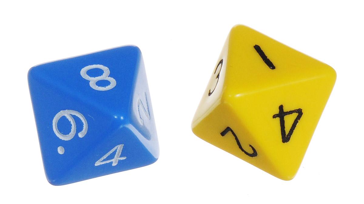 Koplow Games Набор игральных костей Простые D8 цвет синий желтый 2 шт