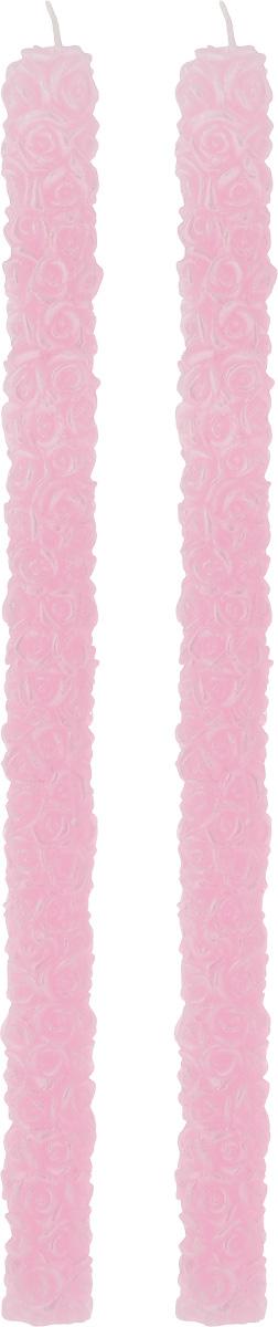 Набор декоративных свечей Win Max Розочки, цвет: розовый, длина 31 см, 2 шт94403Набор декоративных свечей Win Max Розочки представляет собой набор из двух свечей украшенных красивой резьбой в виде роз. Набор упакован в красивую коробку и перевязан лентой. Свечи создают атмосферу уюта и романтики. Яркая свеча будет прекрасным дополнением к вашему празднику. Симпатичный сувенир послужит отличным подарком. Длина свечи: 31 см. Диаметр дна: 1,9 см.