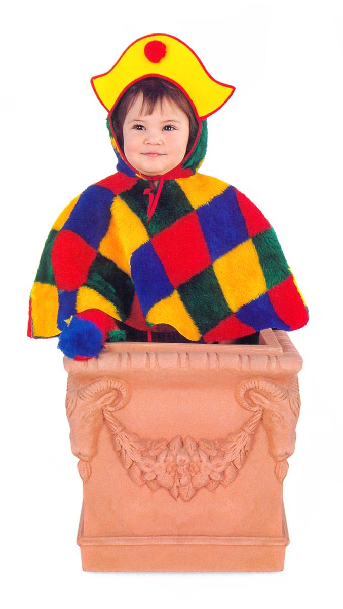 Rio Карнавальный костюм для мальчика Арлекино цвет желтый красный размер 28 (3-4 года)103337Карнавальный костюм для праздничных и театрализованных мероприятий Ручная или деликатная стирка