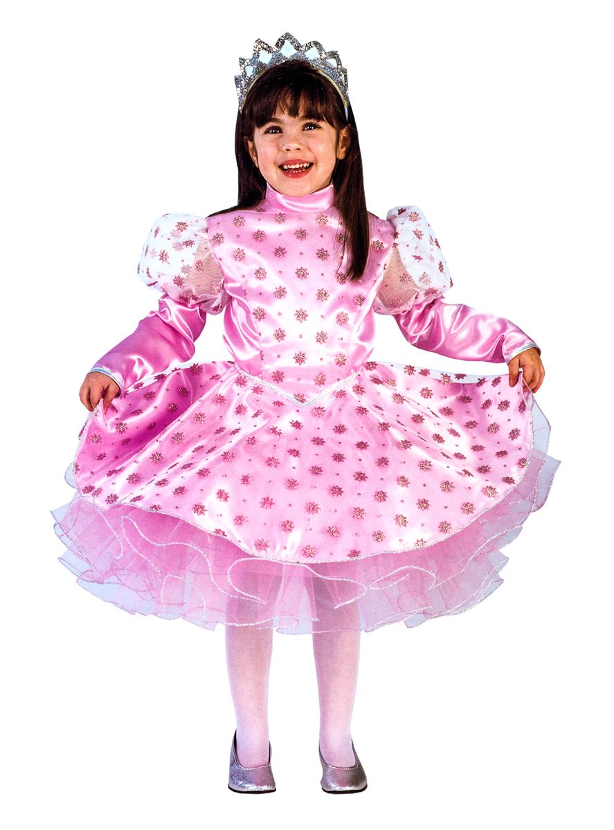 Rio Карнавальный костюм для девочки Снежинка цвет розовый размер 30 (5-6 лет)105182Карнавальный костюм для праздничных и театрализованных мероприятий Ручная или деликатная стирка