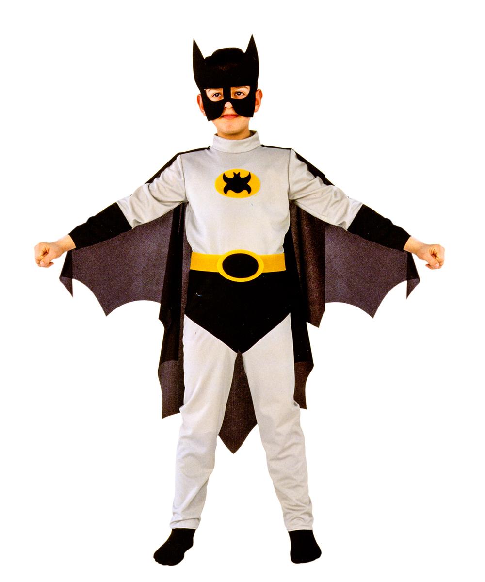 Rio Карнавальный костюм для мальчика Бэтмен цвет серый черный размер 34 (7-8 лет)107036Карнавальный костюм для праздничных и театрализованных мероприятий Ручная или деликатная стирка