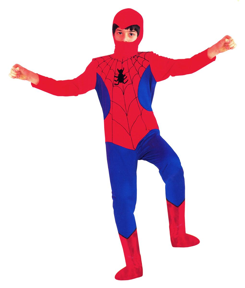 Rio Карнавальный костюм для мальчика Человек-Паук цвет красный синий размер 32 (6-7 лет)107037Карнавальный костюм для праздничных и театрализованных мероприятий Ручная или деликатная стирка